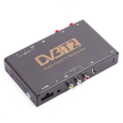 Receptor de TV digital para coche con entrada de video DVB T2 HEVC