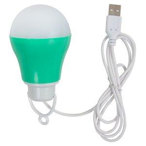 USB LED Light 5 W (cold white, green housing, 5 V, 450 lm)