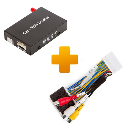 Smartphone/iPhone Wi-Fi Mirroring Adapter and Connection Cable Kit for Toyota Touch 2 / Entune Monitors