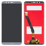 LCD compatible with Huawei Honor 9 Lite, (grey, with touchscreen, Original (PRC), AL00/AL10/TL10)
