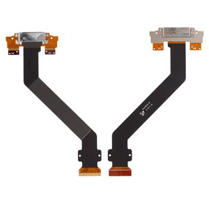 Cable flex para tablet PC Samsung P7300 Galaxy Tab , P7310 Galaxy Tab ,  del conector de carga, con componentes