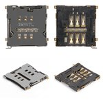 Коннектор SIM-карты HTC G23, S720e One X, S728e One X+; Lenovo K900, S960 Vibe X