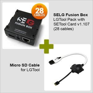 SELG Fusion Box LGTool Pack с SE Tool картой v1.107 (19 кабелей) + Micro SD кабель для LG Tool