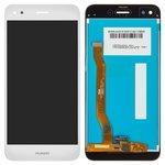 Дисплей для мобильных телефонов Huawei Nova Lite (2017), P9 Lite mini, Y6 Pro (2017), белый, с сенсорным экраном, Original (PRC), SLA-L02, SLA-L22, SLA-L03