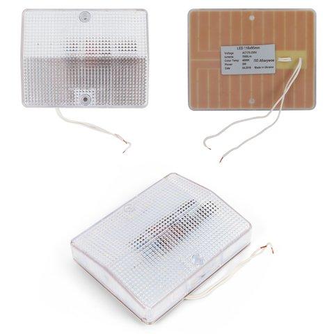 LED світильник, 8 Вт, 220 В, 1000 лм, WW природний білий , прямокутний